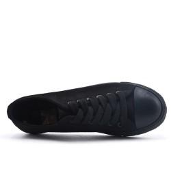Tennis à lacet en toile noir