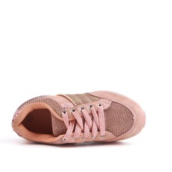 Pink kid's lace-up basket