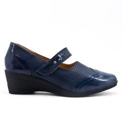 Chaussure confort bleu marine à bride