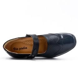 Chaussure confort noir à bride