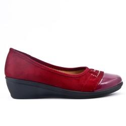 Chaussure confort rouge ornée de strass