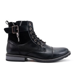 Black ankle boot in deco
