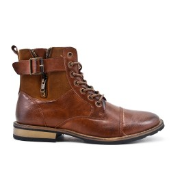 Brown ankle boot in deco