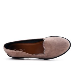Mocassin kaki en simili daim