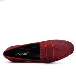 Red moccasin brogue with bridle