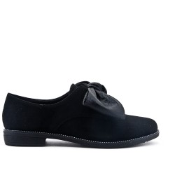 Black Derby with knot suede