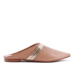 Beige slate with pointed toe