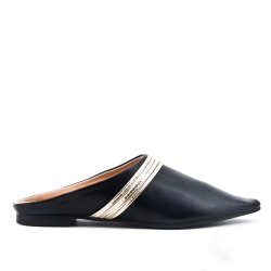 Black slate with pointed toe