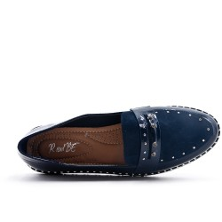 Blue flannel moccasin