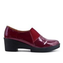 Red high heel pumps