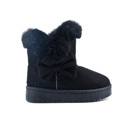Black girl boot with bow