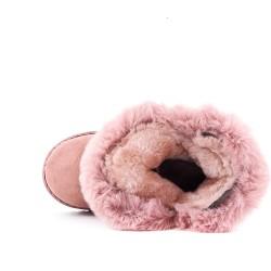 Bota de niña rosa con lazo