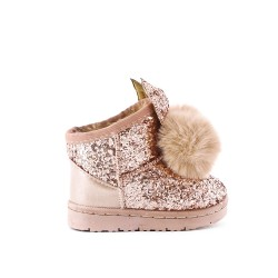 Golden glitter girl boot with tassel