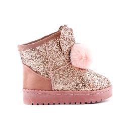 Champagne sequined girl boot with tassel