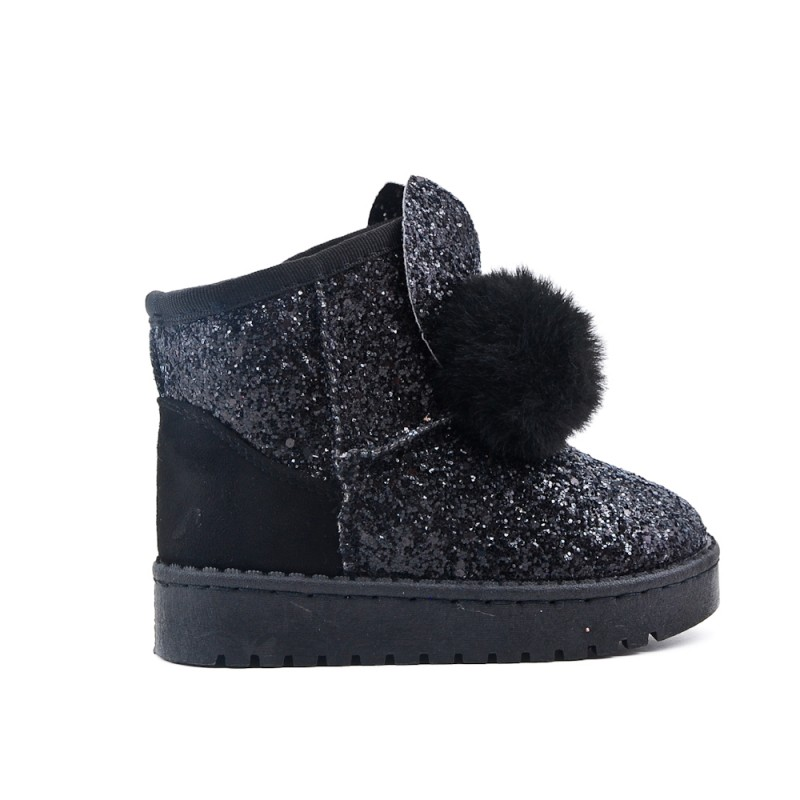 pompom boot girl with Black sequined F3lcK5uT1J