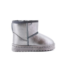 Gray girl's bootie