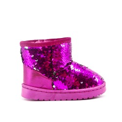 Fuchsia sequined girl's boot
