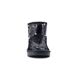 Black sequined girl boot
