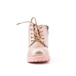 Boot niña de encaje de champán