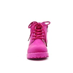 Fuchsia girl boot with lace