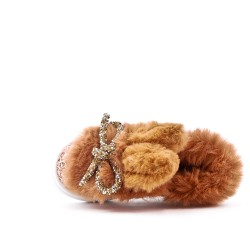 Girls tennis sequined camel with bow