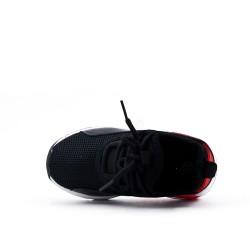 Basket enfant noire à semelle bulle d'air