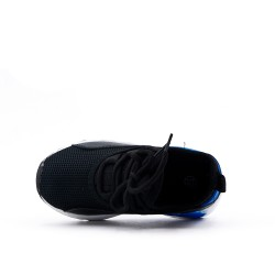 Black children's basket with air bubble soles