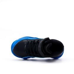Basket enfant noire à semelle en couleur