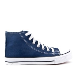 Navy Blue Canvas Tennis Shoes