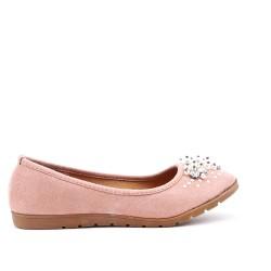 Chaussure confort rose orné de perles