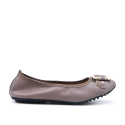 Taupe ballerina with buckle