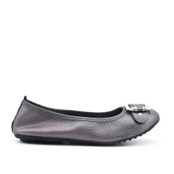 Gray ballerina with buckle