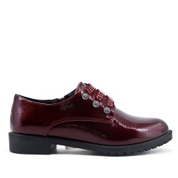 Burgundy Derby in Patent