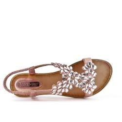 Large flower campaign sandal