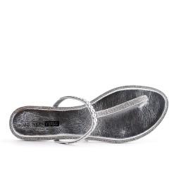 Silver rhinestone slipper in large size