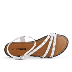 White sandal with large size nails
