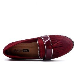 Red mocassin with pompom