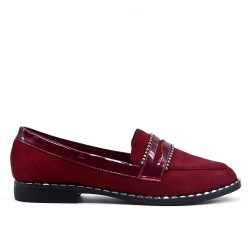 Flocked red loafer