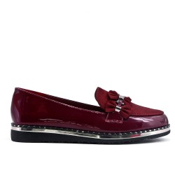 Red loafer with bow