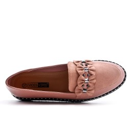 Pink loafer with bow