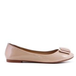 Beige ballerina with bow in large size