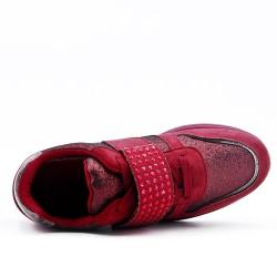 Basket rouge à bride ornée de strass