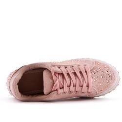 Basket rose ornée de strass