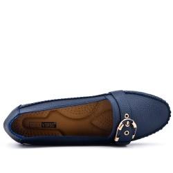 Big size - Blue leatherette comfort shoe