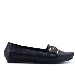 Big size - Black faux leather comfort shoe