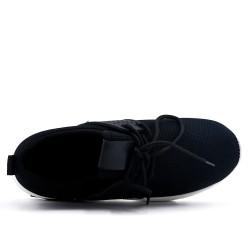 Basket noire en textile extensible