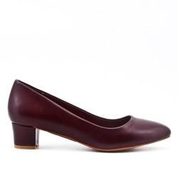 Escarpin rouge en simili cuir