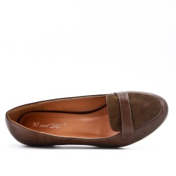 Khaki pump with small heels