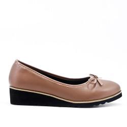 Chaussure kaki à petit compensé