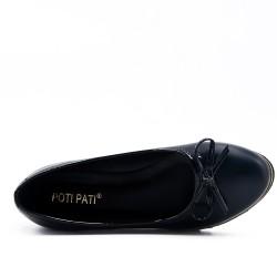 Chaussure noir à petit compensé